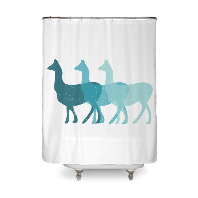 Blue Alpacas Home Shower Curtain by Awkward Design Co. Artist Shop