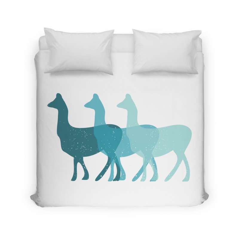Blue Alpacas Home Duvet by Awkward Design Co. Artist Shop