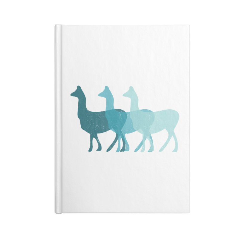 Blue Alpacas Accessories Notebook by Awkward Design Co. Artist Shop