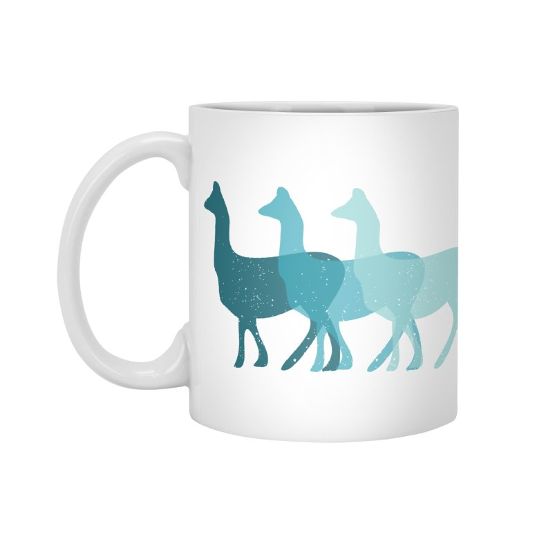 Blue Alpacas Accessories Mug by Awkward Design Co. Artist Shop