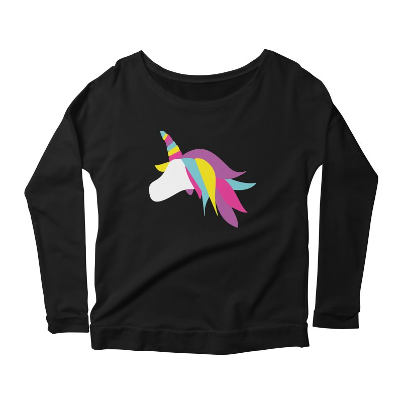 A Unicorn of a Different Color in Women's Longsleeve Scoopneck  Black by Awkward Design Co. Artist Shop