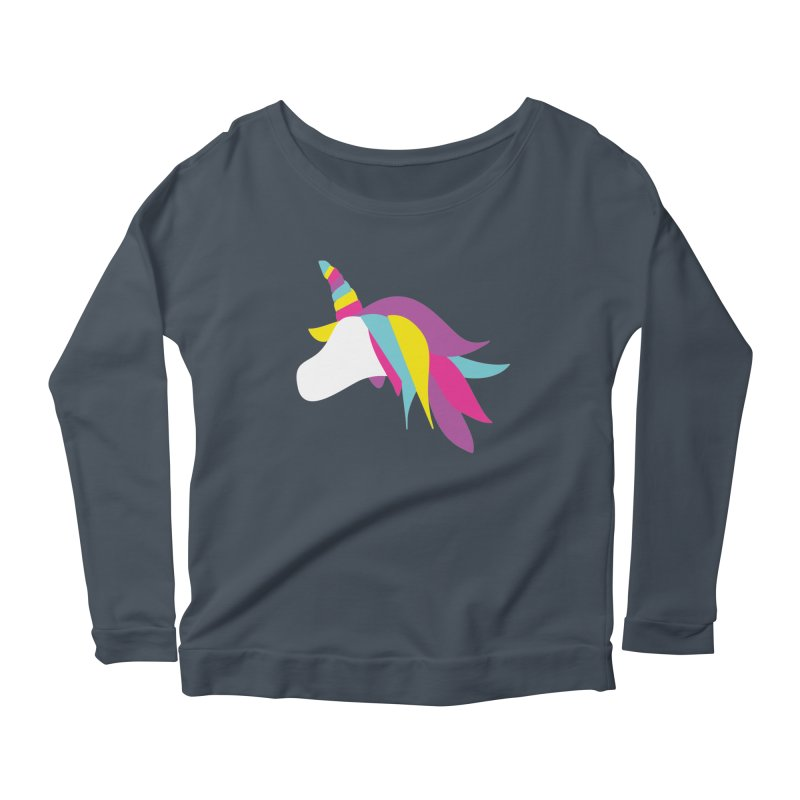 A Unicorn of a Different Color Women's Longsleeve Scoopneck  by Awkward Design Co. Artist Shop