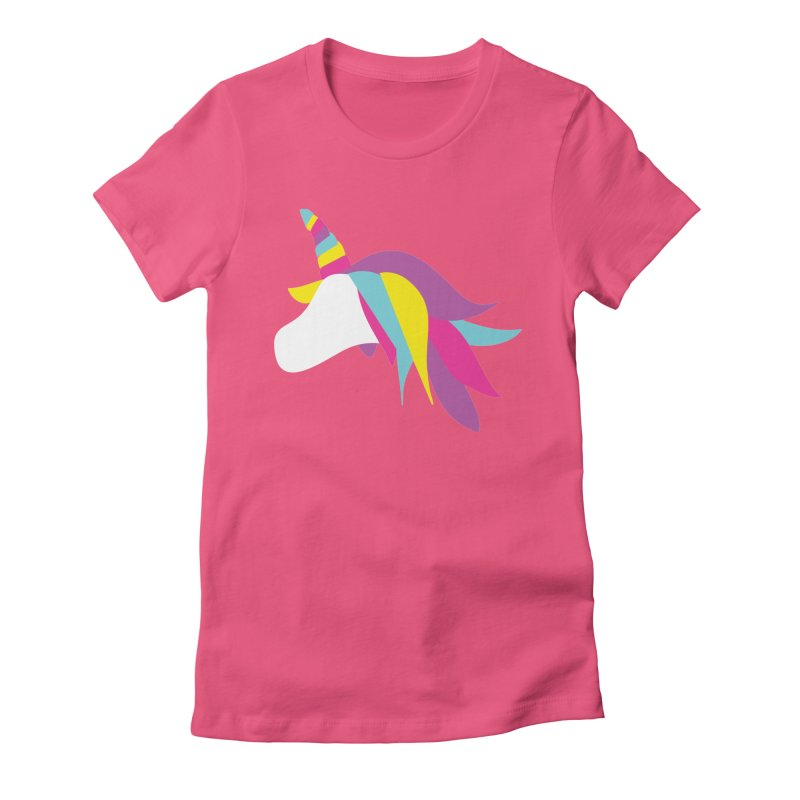 A Unicorn of a Different Color Women's Fitted T-Shirt by Awkward Design Co. Artist Shop