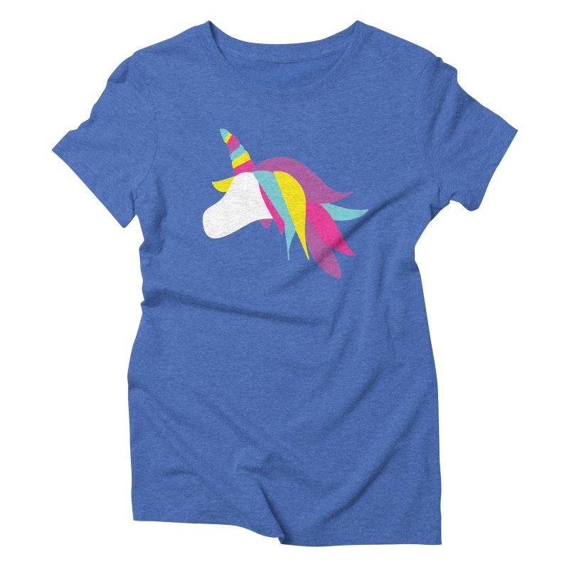 A Unicorn of a Different Color Women's Triblend T-Shirt by Awkward Design Co. Artist Shop