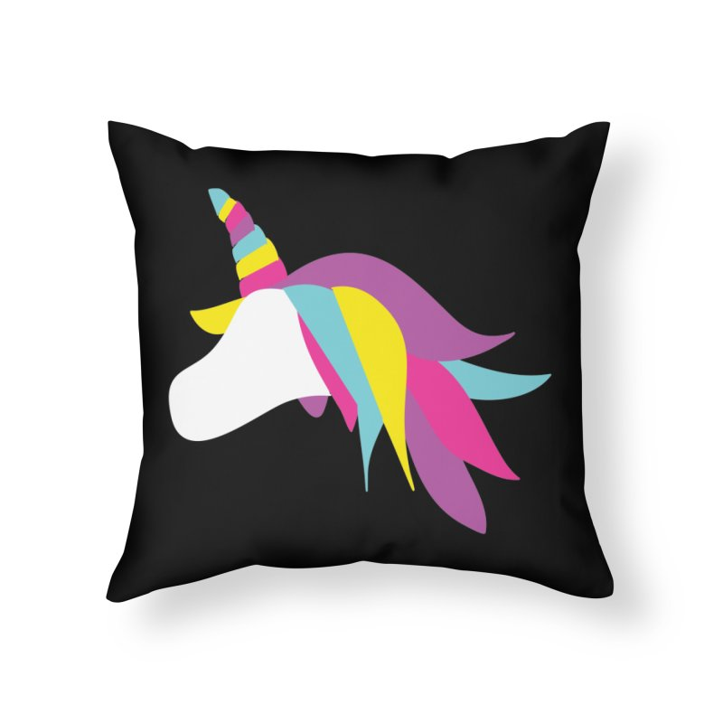 A Unicorn of a Different Color Home Throw Pillow by Awkward Design Co. Artist Shop