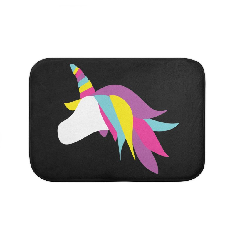 A Unicorn of a Different Color Home Bath Mat by Awkward Design Co. Artist Shop