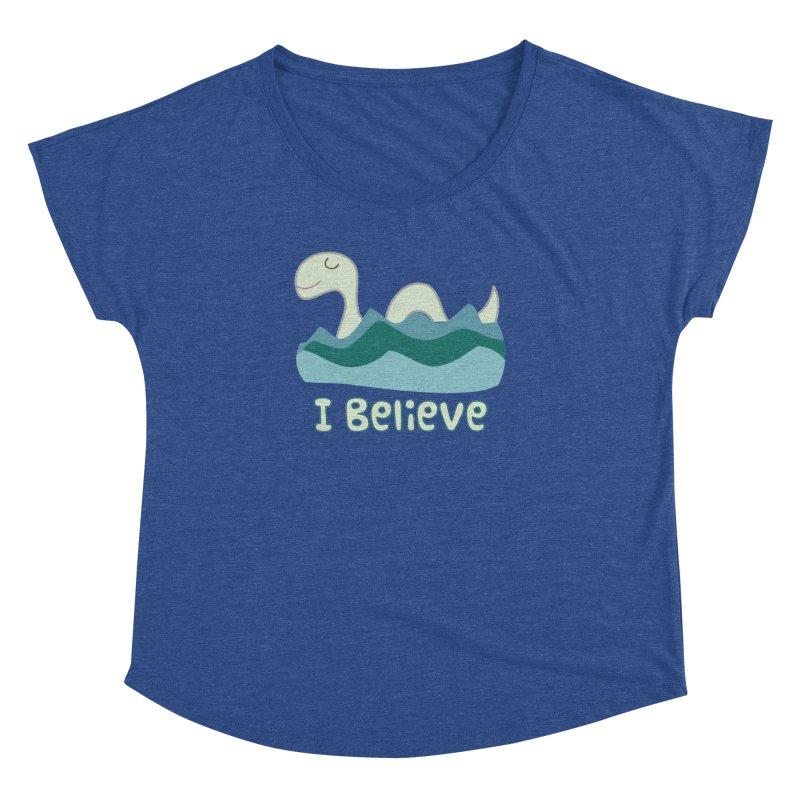 I Believe in Lake Monsters Women's Dolman by Awkward Design Co. Artist Shop