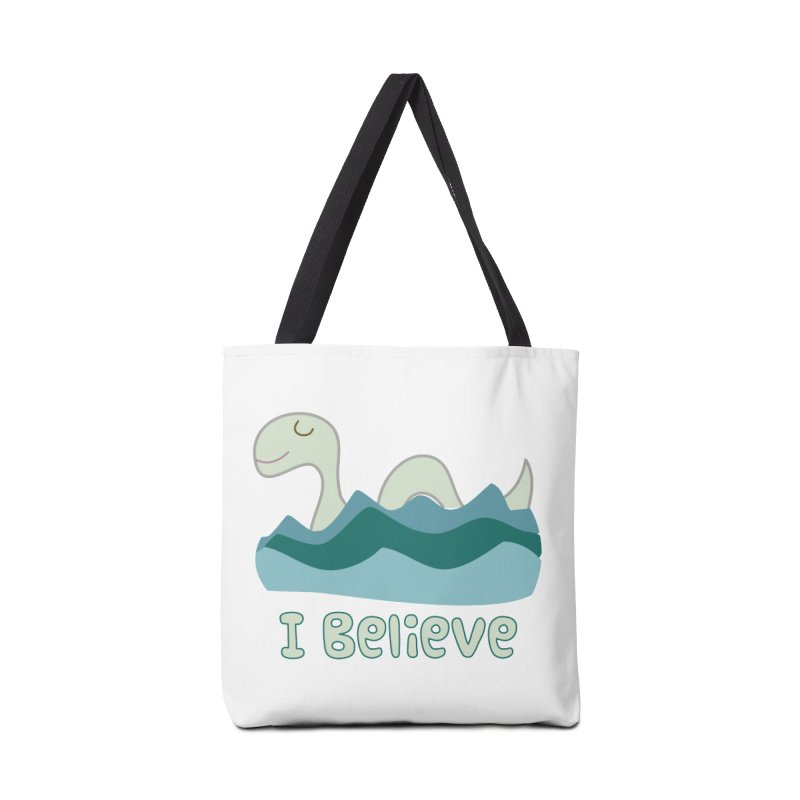 I Believe in Lake Monsters in Tote Bag by Awkward Design Co. Artist Shop
