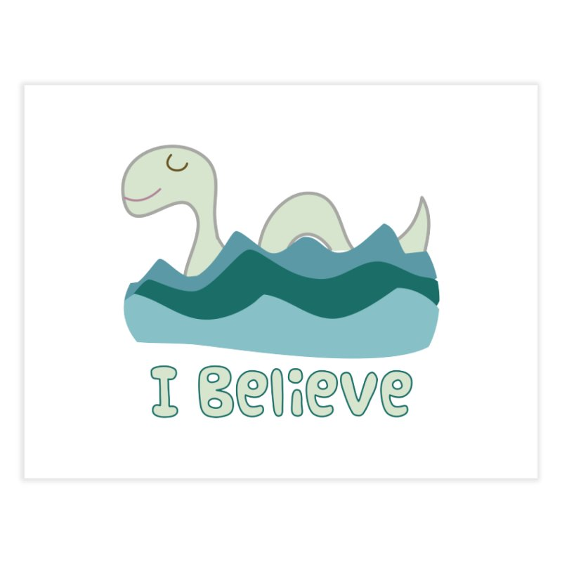 I Believe in Lake Monsters Home Fine Art Print by Awkward Design Co. Artist Shop