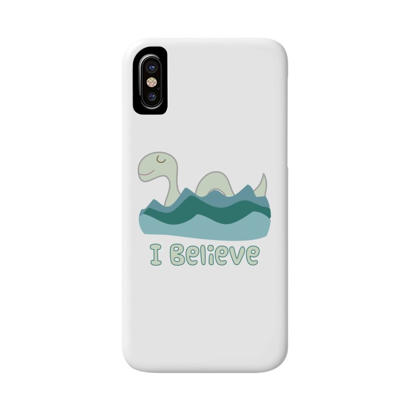 I Believe in Lake Monsters Accessories Phone Case by Awkward Design Co. Artist Shop