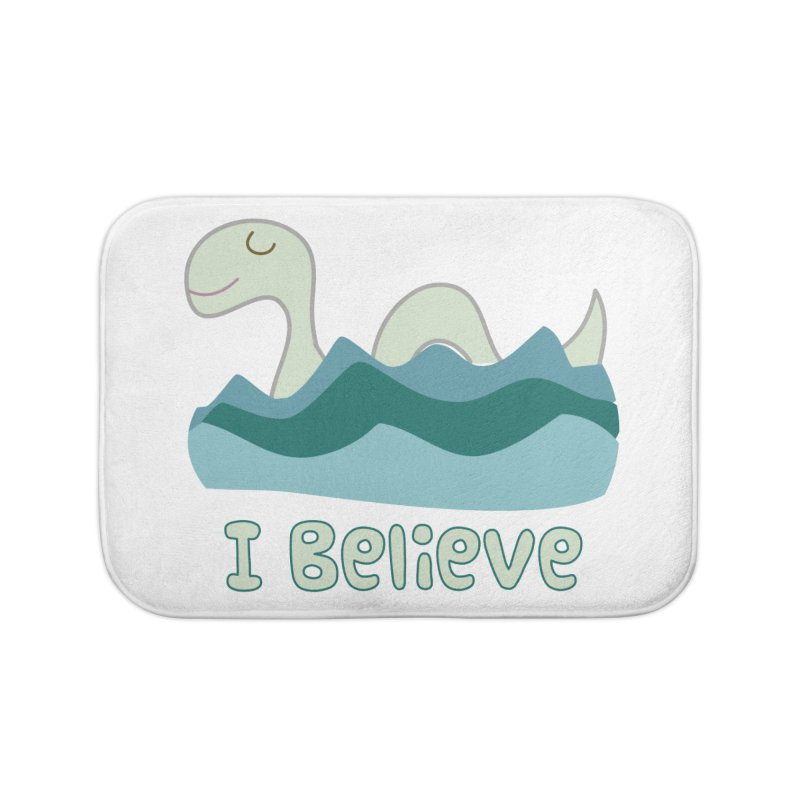 I Believe in Lake Monsters Home Bath Mat by Awkward Design Co. Artist Shop