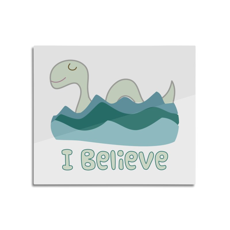 I Believe in Lake Monsters Home Mounted Aluminum Print by Awkward Design Co. Artist Shop