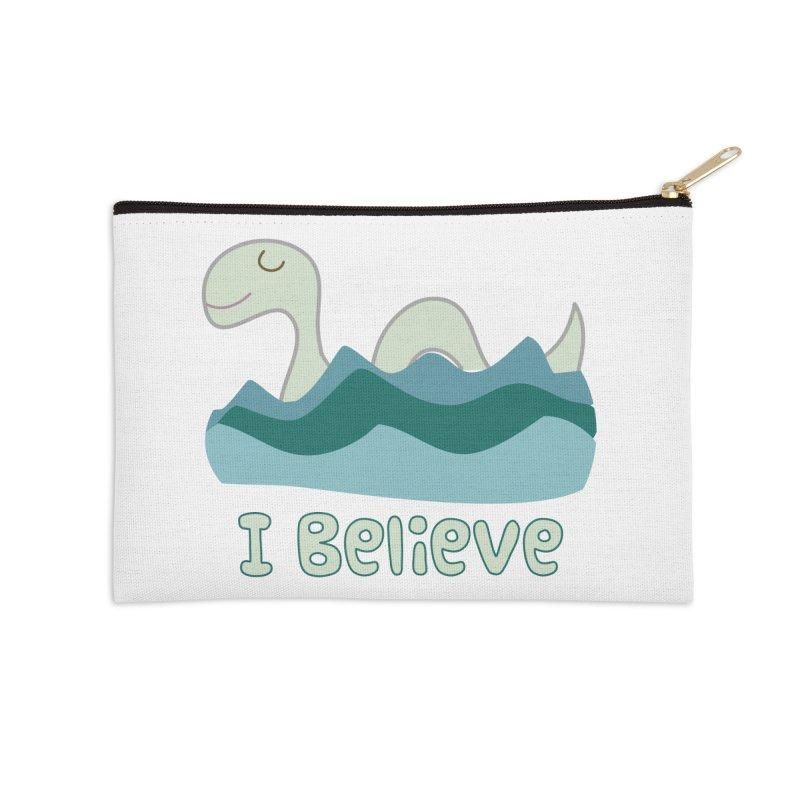 I Believe in Lake Monsters Accessories Zip Pouch by Awkward Design Co. Artist Shop