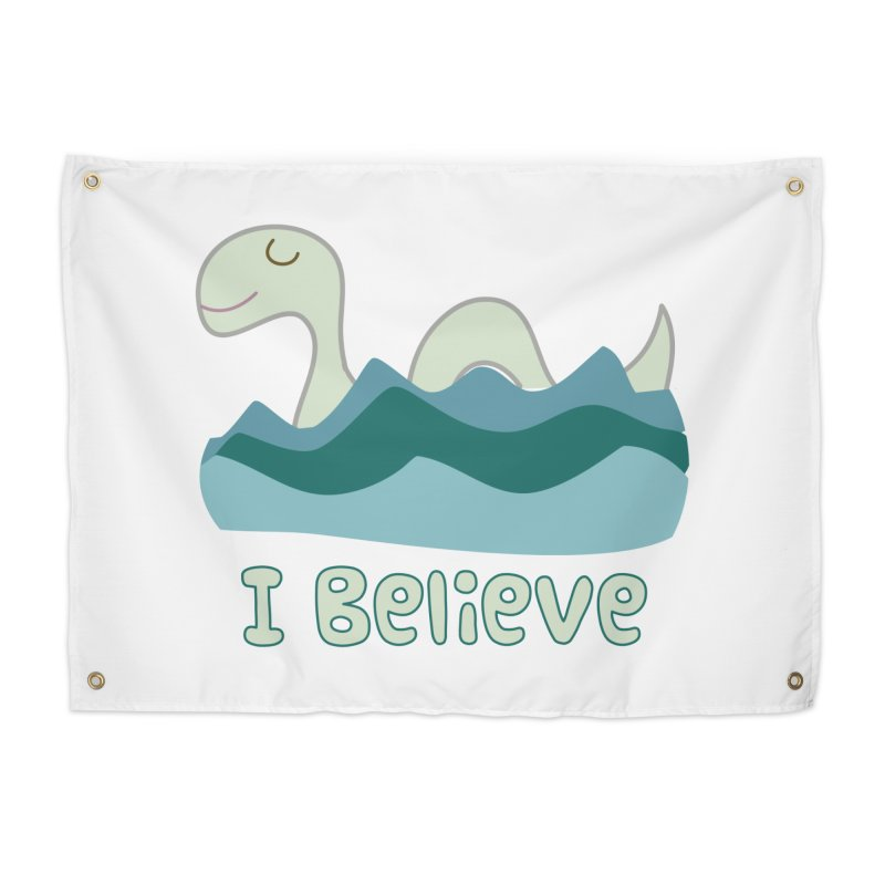 I Believe in Lake Monsters Home Tapestry by Awkward Design Co. Artist Shop