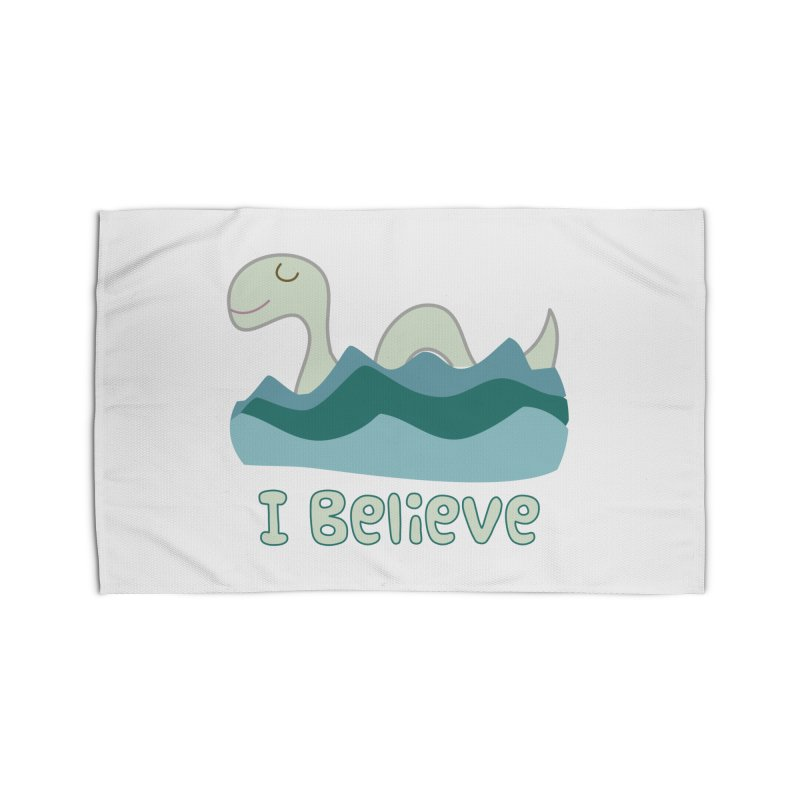 I Believe in Lake Monsters Home Rug by Awkward Design Co. Artist Shop