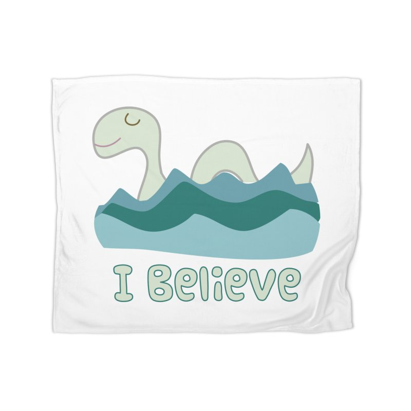 I Believe in Lake Monsters Home Blanket by Awkward Design Co. Artist Shop