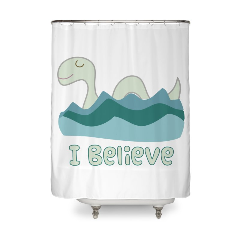 I Believe in Lake Monsters Home Shower Curtain by Awkward Design Co. Artist Shop