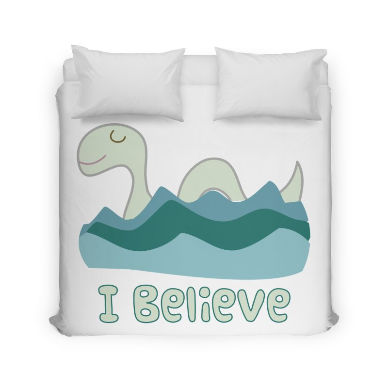 I Believe in Lake Monsters Home Duvet by Awkward Design Co. Artist Shop