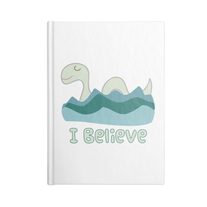 I Believe in Lake Monsters Accessories Notebook by Awkward Design Co. Artist Shop