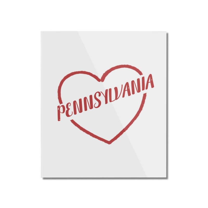 Pennsylvania Heart Home Mounted Acrylic Print by Awkward Design Co. Artist Shop