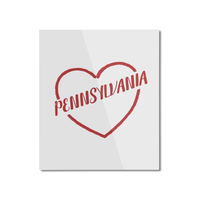 Pennsylvania Heart Home Mounted Aluminum Print by Awkward Design Co. Artist Shop