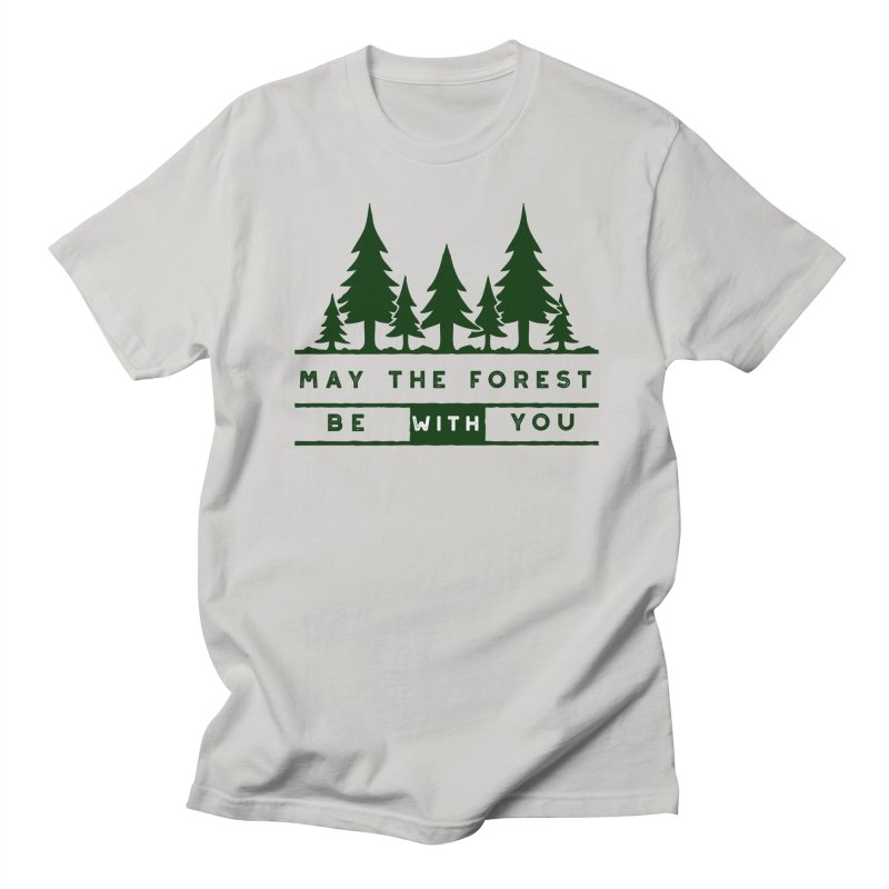 May The Forest Be With You in Men's T-shirt Stone by Awkward Design Co. Artist Shop
