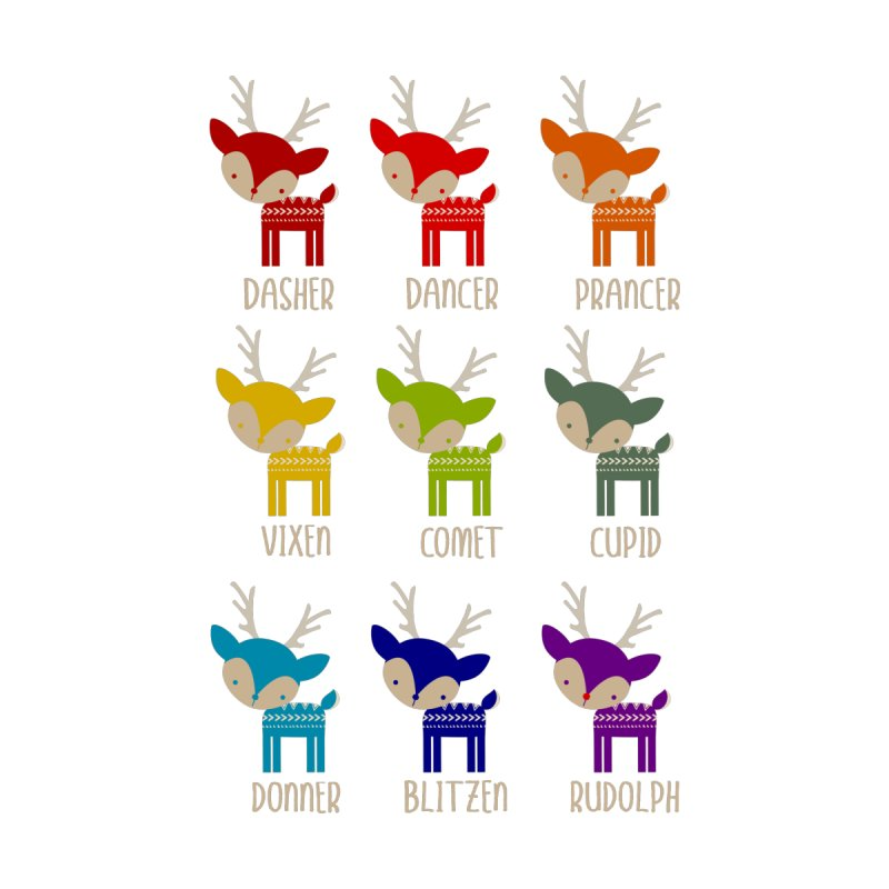 Cute Rainbow Colored Christmas Design in  by Awkward Design Co. Artist Shop