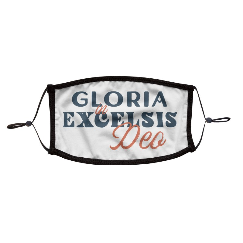 Gloria in excelsis Deo Accessories Face Mask by A Worthy Manner Goods & Clothing