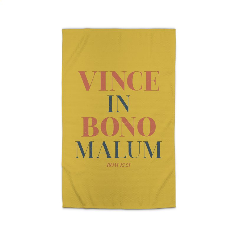 Vince in bono malum - Overcome evil with good (Rom 12:21) Home Rug by A Worthy Manner Goods & Clothing