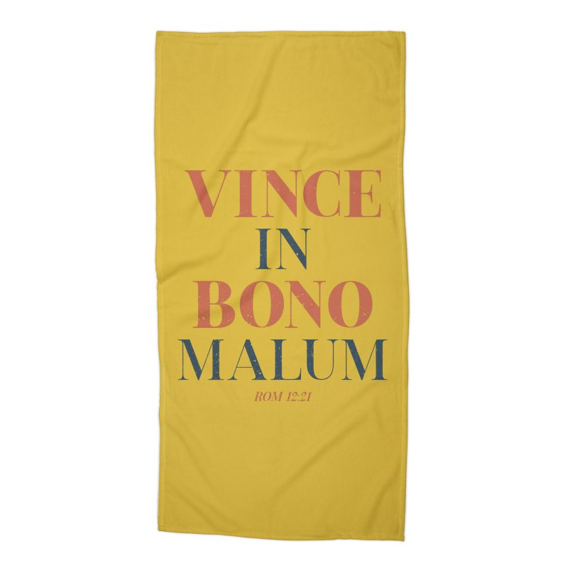 Vince in bono malum - Overcome evil with good (Rom 12:21) Accessories Beach Towel by A Worthy Manner Goods & Clothing
