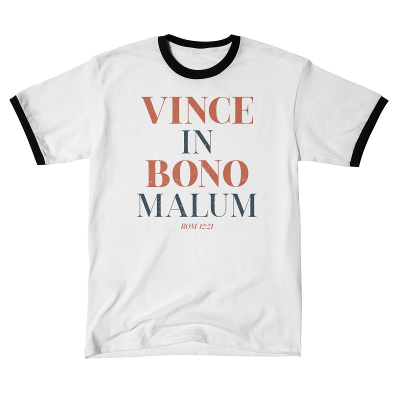 Vince in bono malum - Overcome evil with good (Rom 12:21) Men's T-Shirt by A Worthy Manner Goods & Clothing