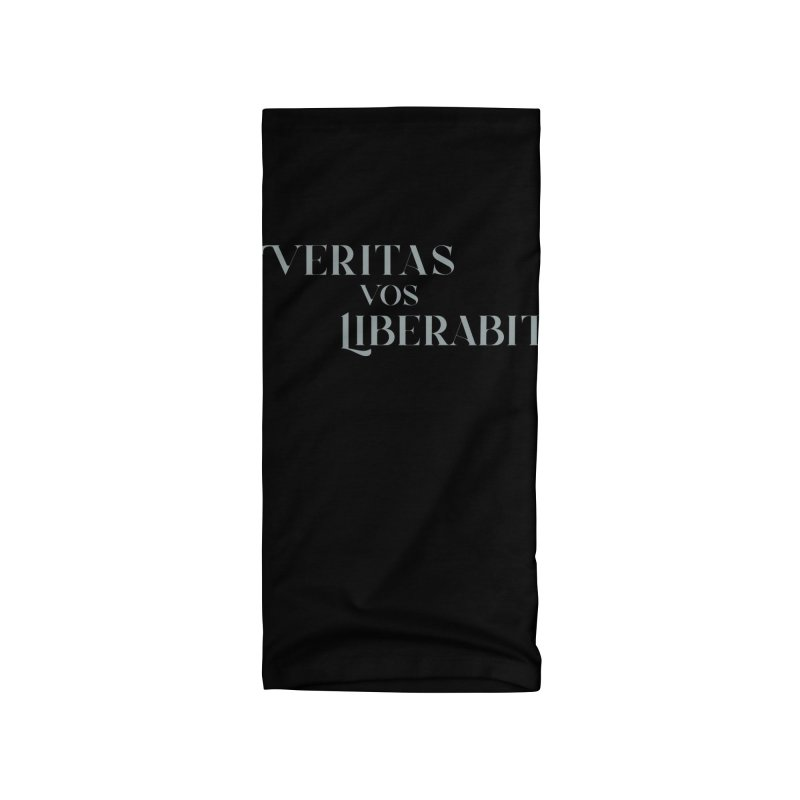 Veritas vos liberabit - The truth shall set you free (John 8:32) Accessories Neck Gaiter by A Worthy Manner Goods & Clothing