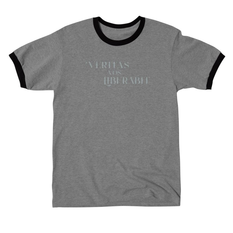 Veritas vos liberabit - The truth shall set you free (John 8:32) Men's T-Shirt by A Worthy Manner Goods & Clothing