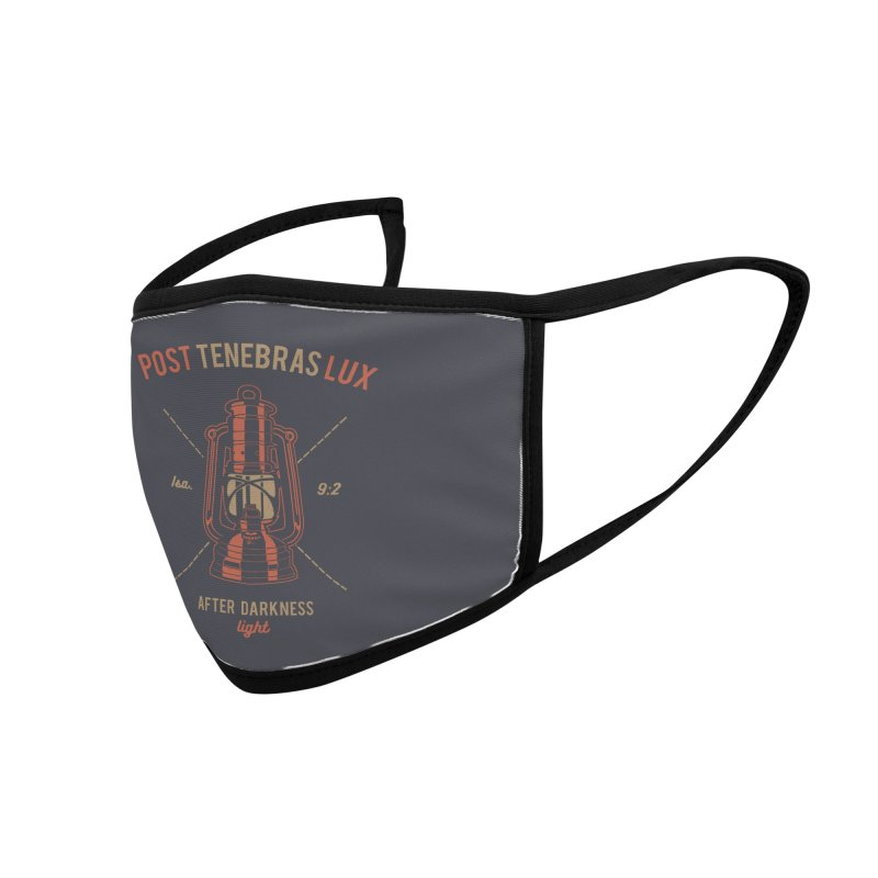 Post Tenebras Lux Accessories Face Mask by A Worthy Manner Goods & Clothing