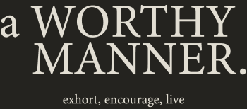A Worthy Manner Goods & Clothing Logo