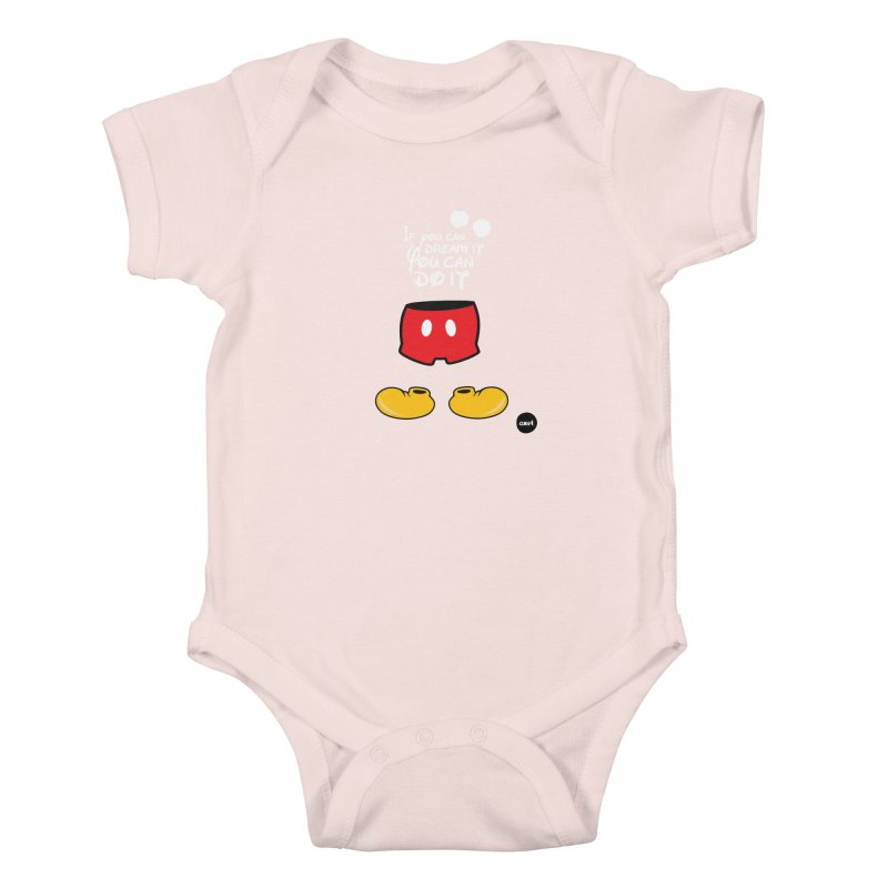 The mouse - white version Kids Baby Bodysuit by axelsavvides's Artist Shop