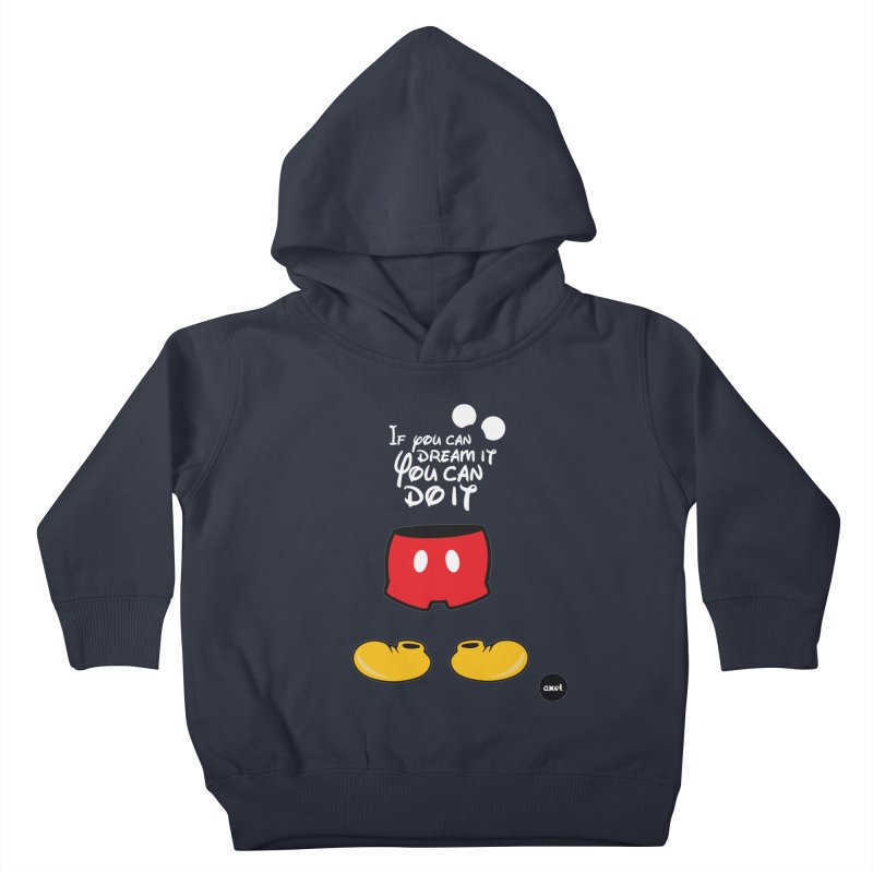 The mouse - white version Kids Toddler Pullover Hoody by axelsavvides's Artist Shop