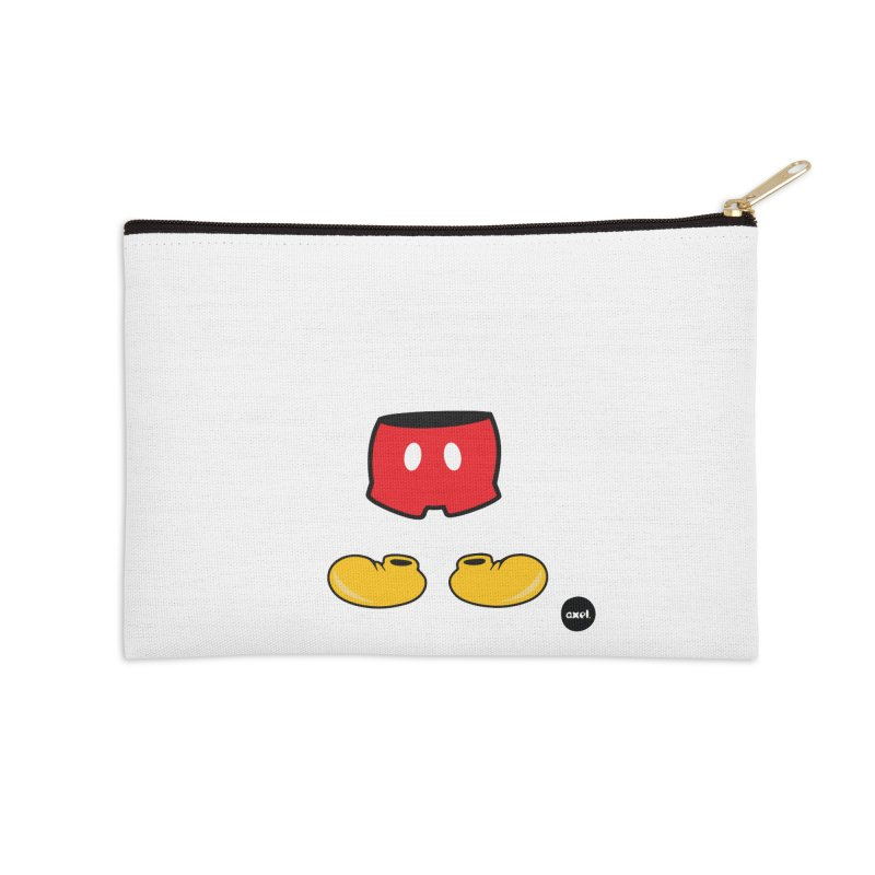 The mouse - white version Accessories Zip Pouch by axelsavvides's Artist Shop