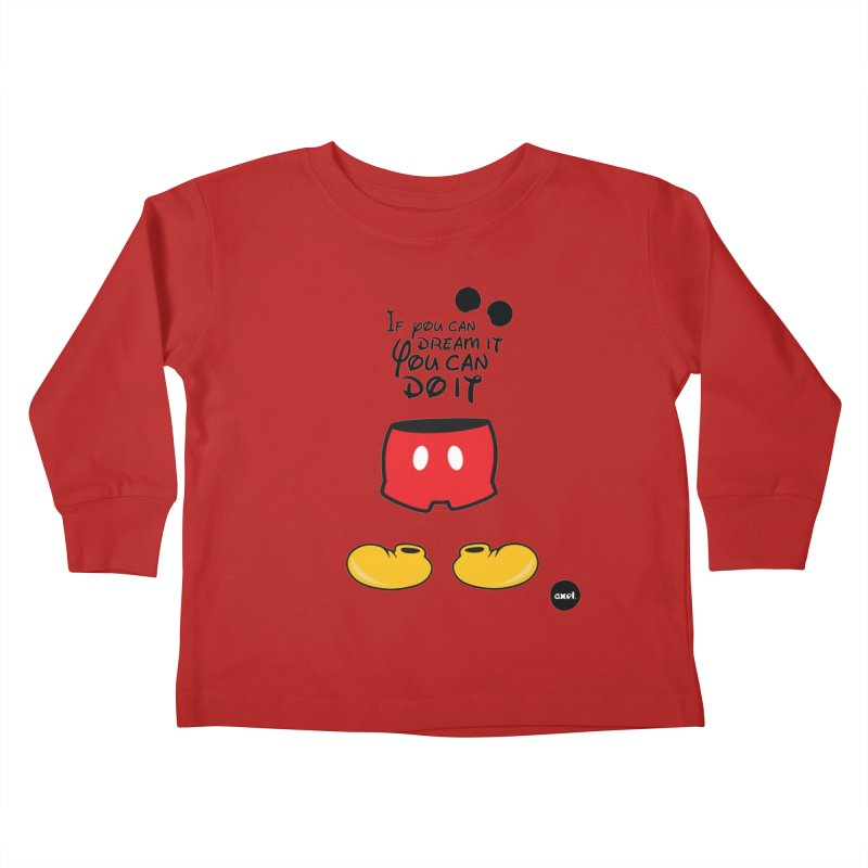 The mouse - black version Kids Toddler Longsleeve T-Shirt by axelsavvides's Artist Shop