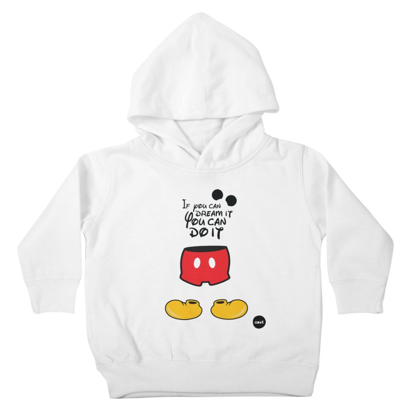 The mouse - black version Kids Toddler Pullover Hoody by axelsavvides's Artist Shop