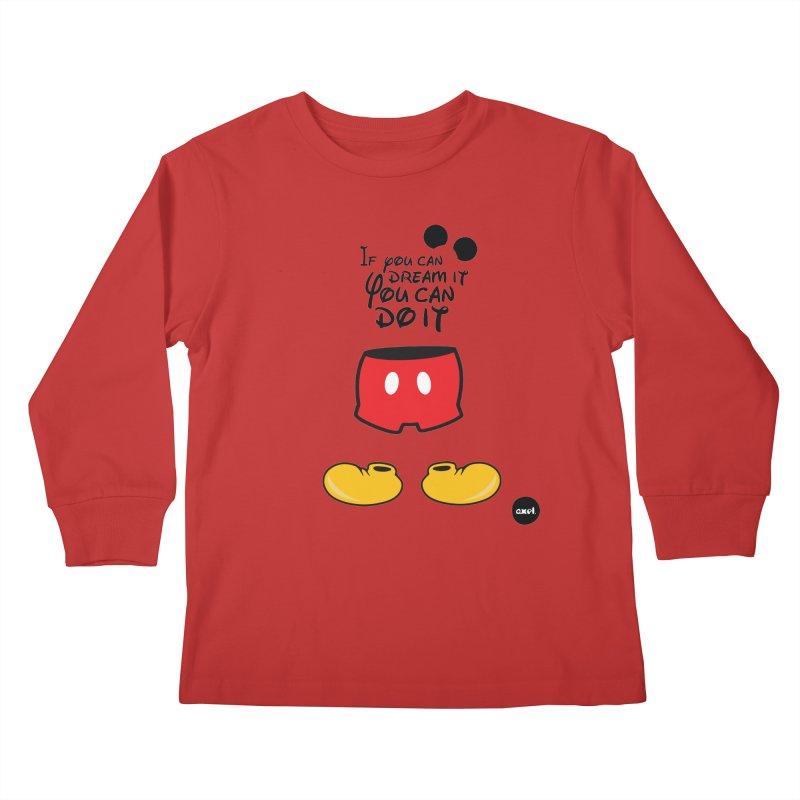 The mouse - black version Kids Longsleeve T-Shirt by axelsavvides's Artist Shop