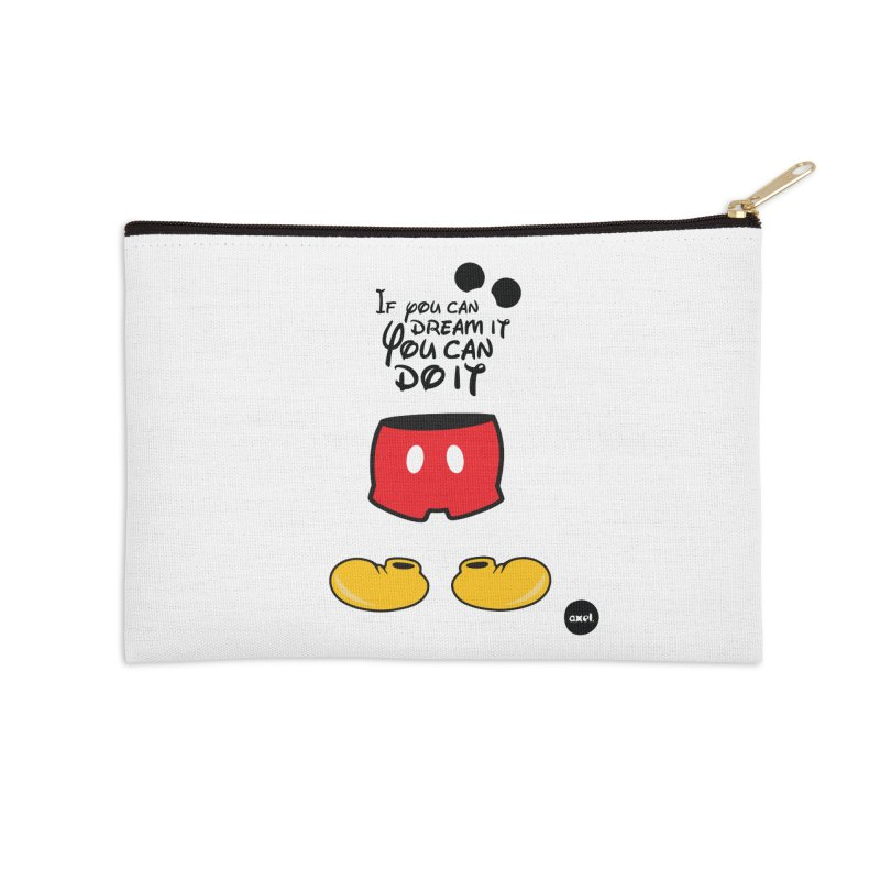 The mouse - black version Accessories Zip Pouch by axelsavvides's Artist Shop
