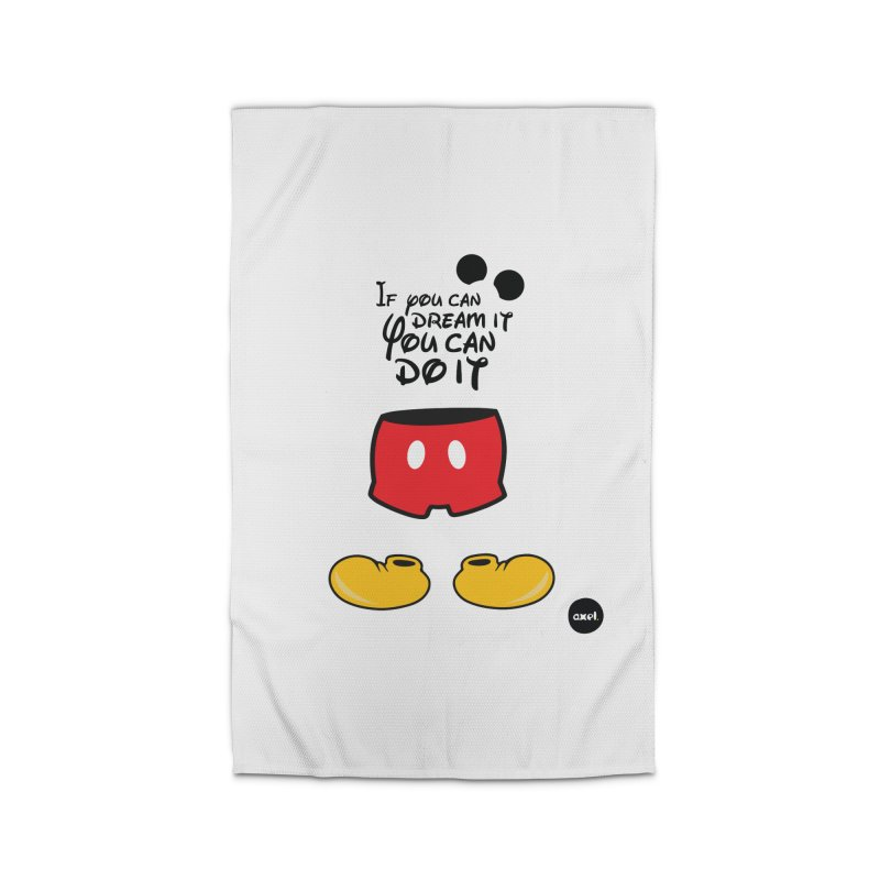 The mouse - black version Home Rug by axelsavvides's Artist Shop
