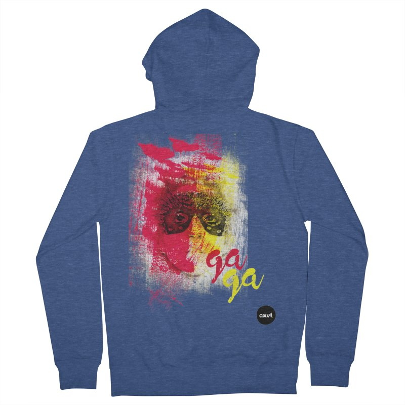 Gaga goes color Men's Zip-Up Hoody by axelsavvides's Artist Shop