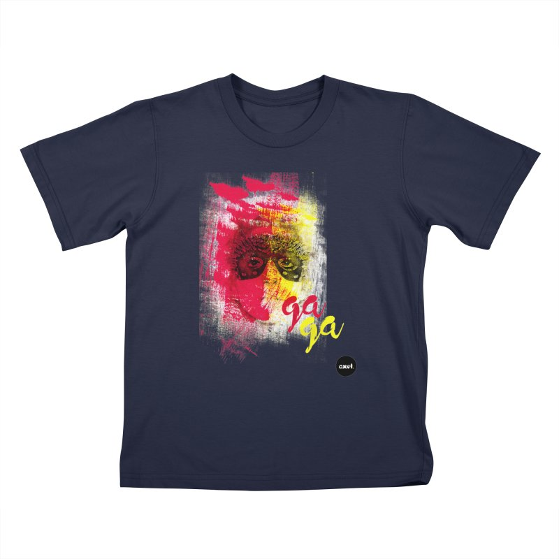 Gaga goes color Kids T-Shirt by axelsavvides's Artist Shop