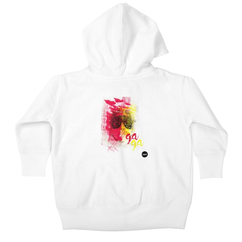 Gaga goes color Kids Baby Zip-Up Hoody by axelsavvides's Artist Shop