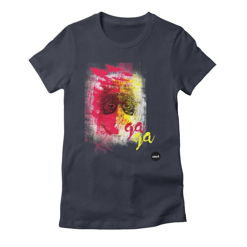 Gaga goes color Women's Fitted T-Shirt by axelsavvides's Artist Shop