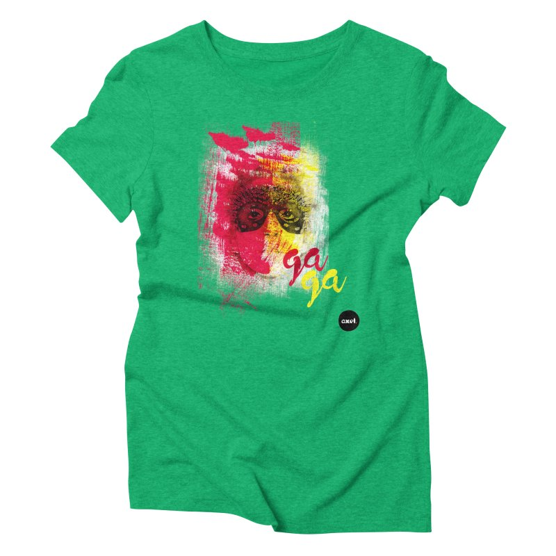 Gaga goes color Women's Triblend T-Shirt by axelsavvides's Artist Shop