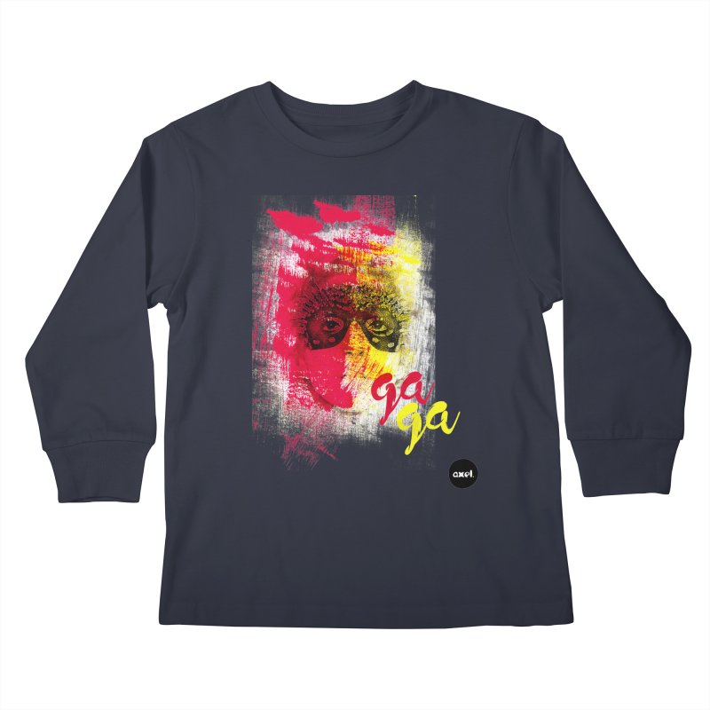 Gaga goes color Kids Longsleeve T-Shirt by axelsavvides's Artist Shop