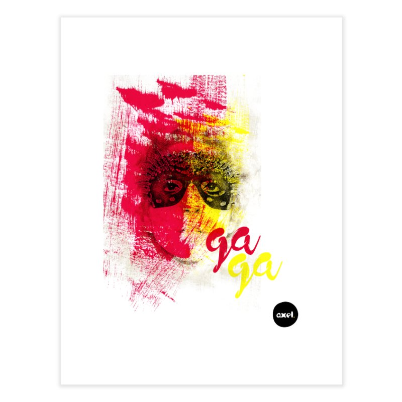 Gaga goes color Home Fine Art Print by axelsavvides's Artist Shop